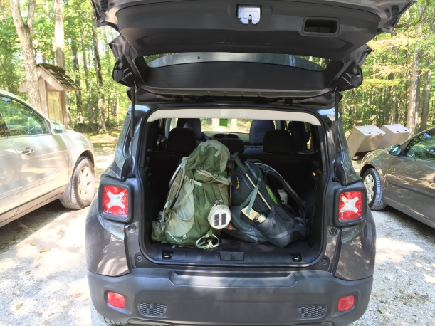 Jeep Renegade with Gear